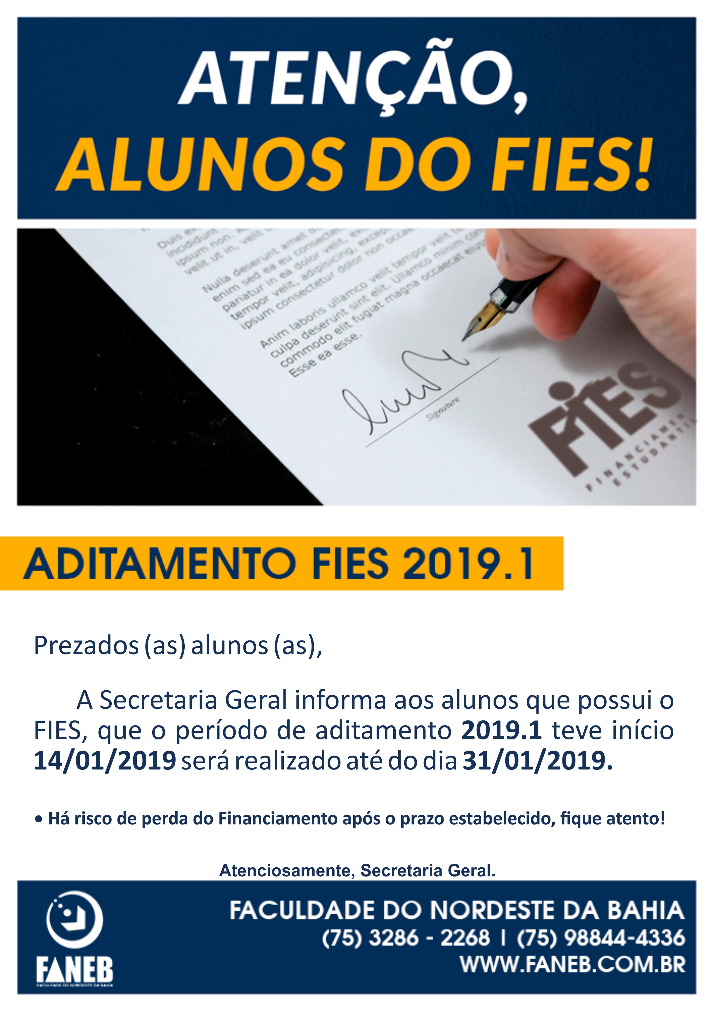 Aviso do FIES - 2019.1